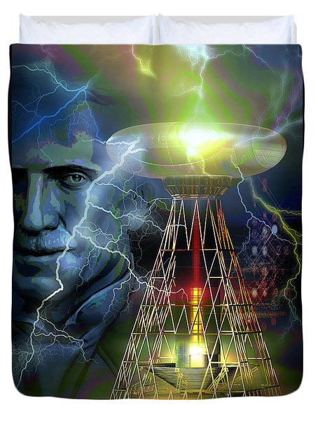 Nikola Tesla Duvet Cover by Shadowlea Is