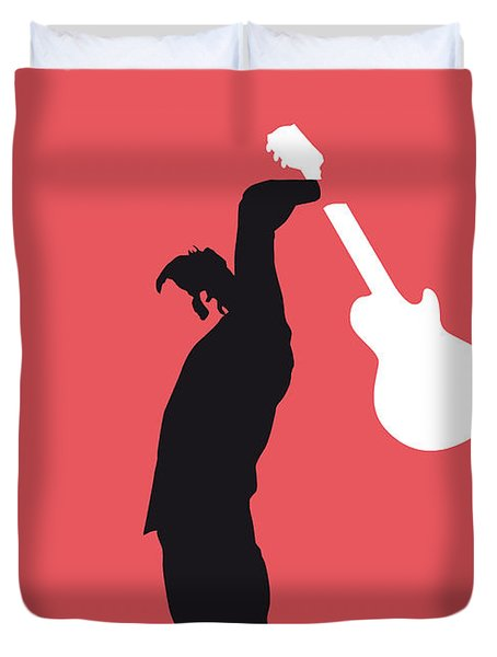 No002 My The Who Minimal Music Poster Duvet Cover