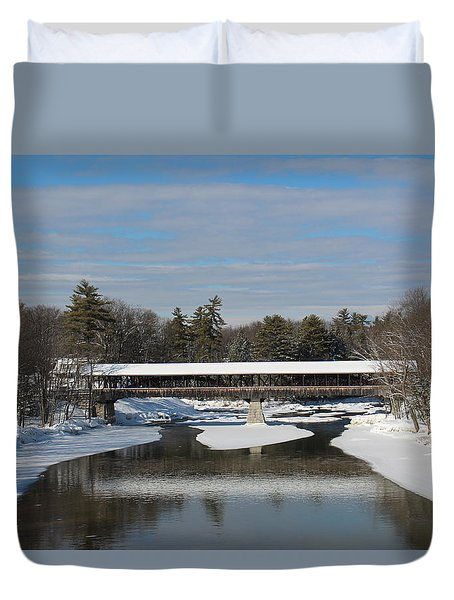 North Conway Covered Bridge  Duvet Cover