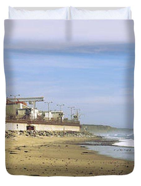 Nuclear Power Plant On The Beach, San Duvet Cover