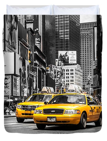 Nyc Yellow Cabs - Ck Duvet Cover