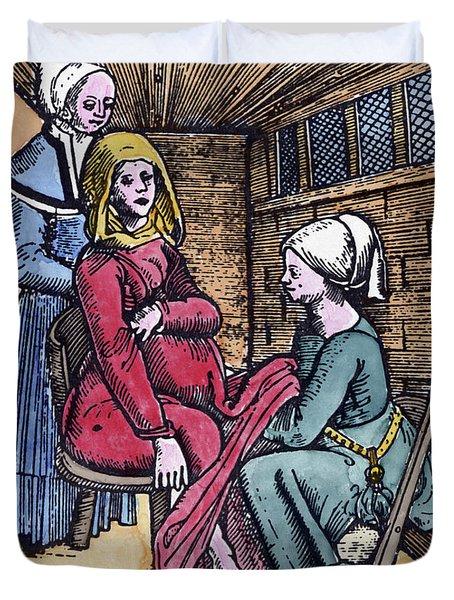 Obstetrical Chair, 1513 Duvet Cover
