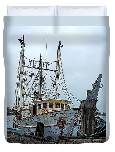 Ocean One Fishing Duvet Cover