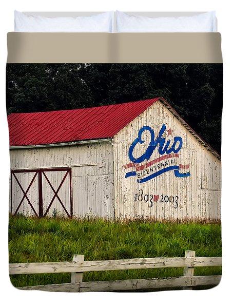 Ohio Bicentennial Barn Duvet Cover