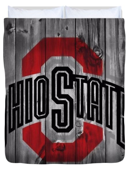 Ohio State Buckeyes Duvet Cover by Dan Sproul
