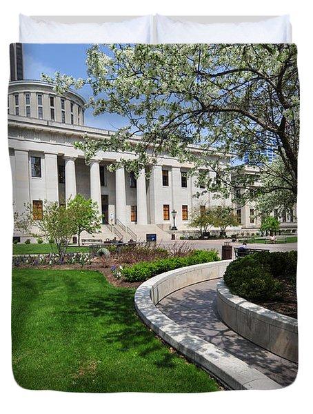 D13l-145 Ohio Statehouse Photo Duvet Cover