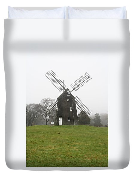 Old Hook Mill Duvet Cover
