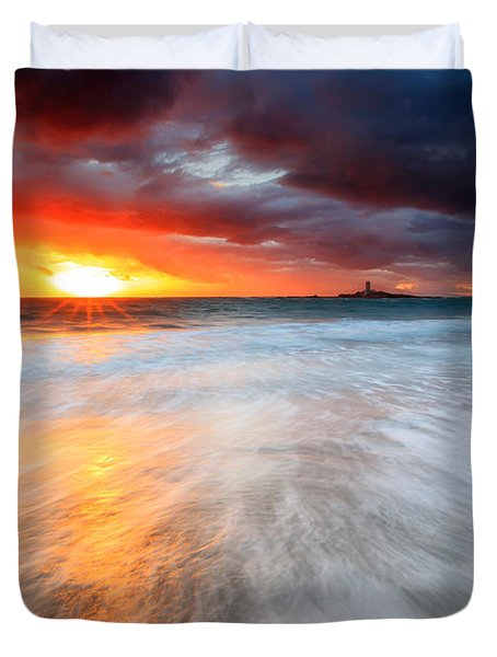 Old Lighthouse Duvet Cover