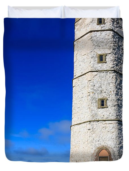 Old Lighthouse Flamborough Duvet Cover