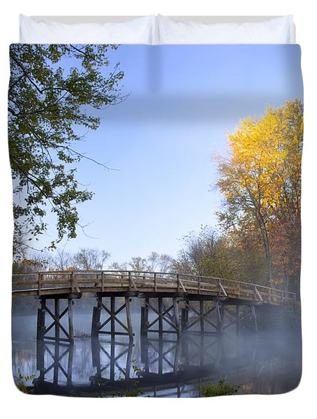 Old North Bridge Concord Duvet Cover by Brian Jannsen