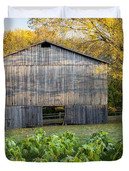 Old Tobacco Barn Duvet Cover by Brian Jannsen