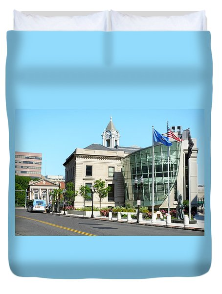 Old Town Hall In Stamford Duvet Cover