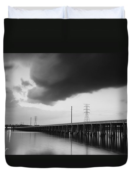 Ominous Cloud Duvet Cover by Phill Doherty