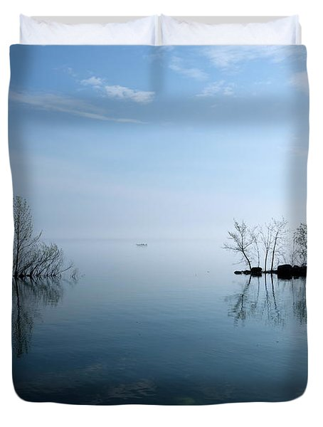 On The Horizon Duvet Cover by Jacqueline Athmann