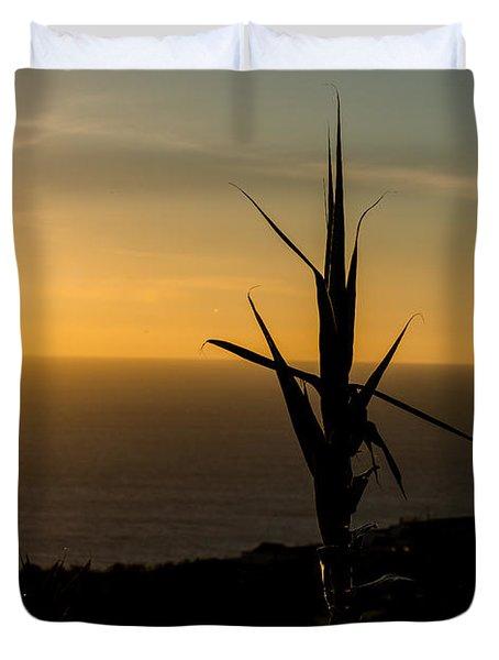 One At Sunset Duvet Cover