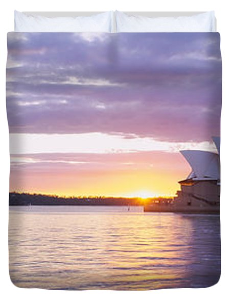 Opera House At The Waterfront, Sydney Duvet Cover by Panoramic Images