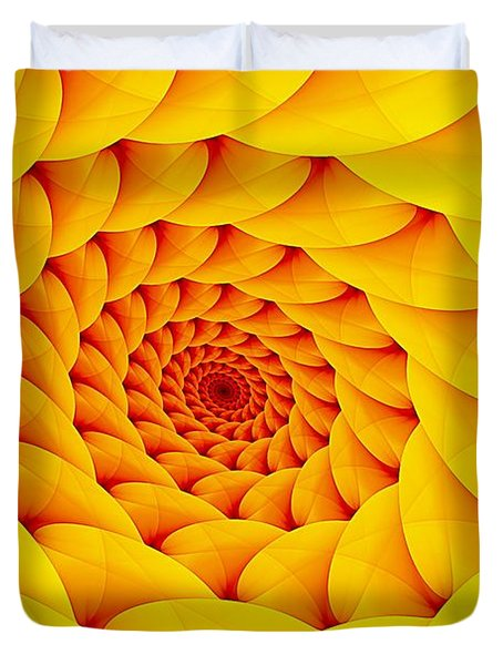 Yellow Pillow Vortex Duvet Cover