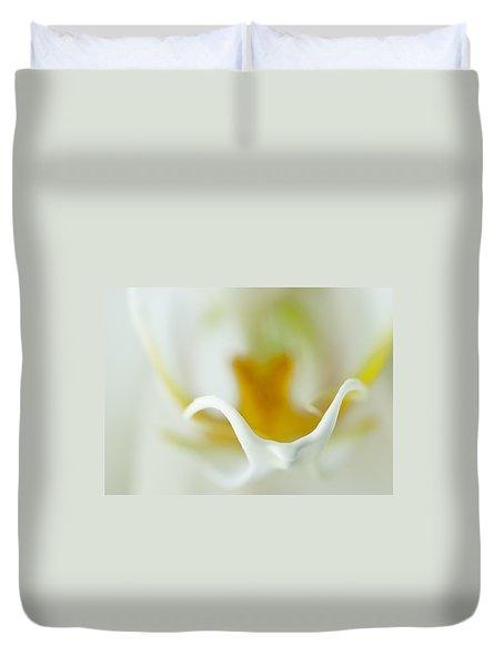 Moth Orchid Macro Duvet Cover