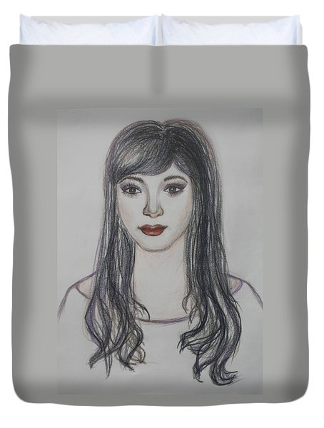 The Oriental Girl   Duvet Cover
