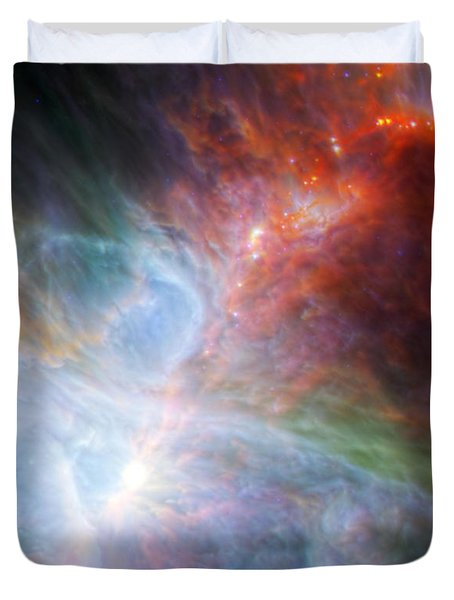 Orion Nebula Duvet Cover by Science Source