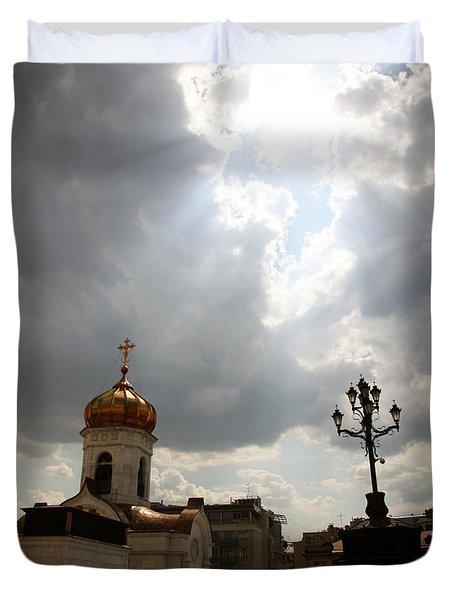Orthodox Church  Duvet Cover by Lali Kacharava
