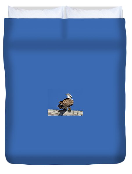 Osprey With Fish In Talons Duvet Cover by Dale Powell