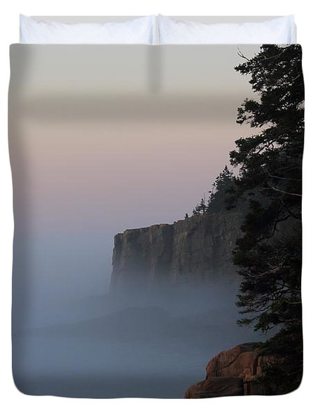 Otter Cliffs 2 Duvet Cover