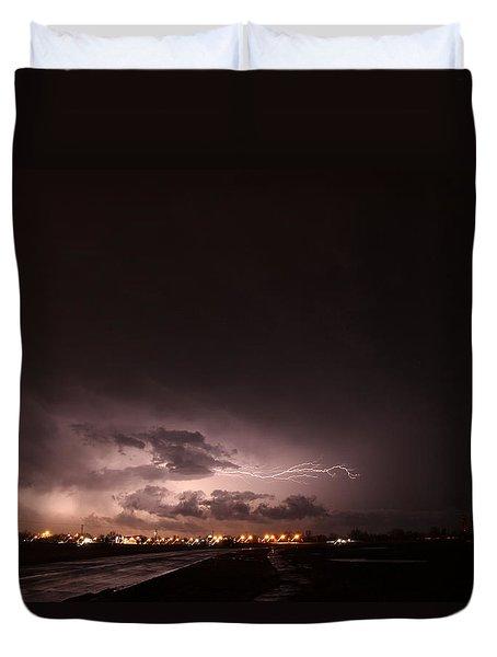 Our 1st Severe Thunderstorms In South Central Nebraska Duvet Cover