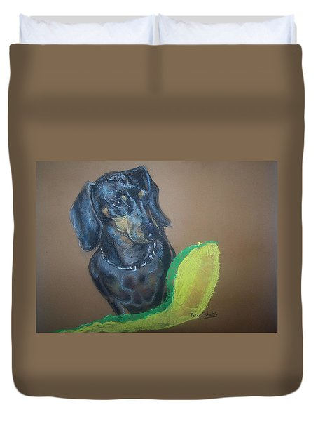 Ozzie Dashound Duvet Cover by Peter Suhocke