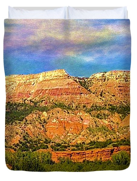 Duvet Cover featuring the photograph Palo Duro Canyon by Janette Boyd