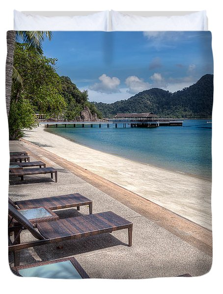 Pangkor Laut Duvet Cover by Adrian Evans