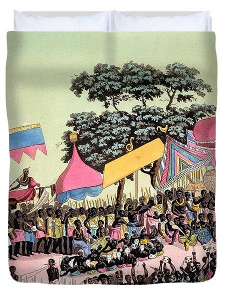 Panoramic View Of The Yam Custom Duvet Cover
