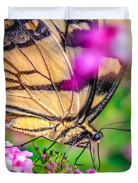 Duvet Cover featuring the photograph Papilio Glaucus by Rob Sellers