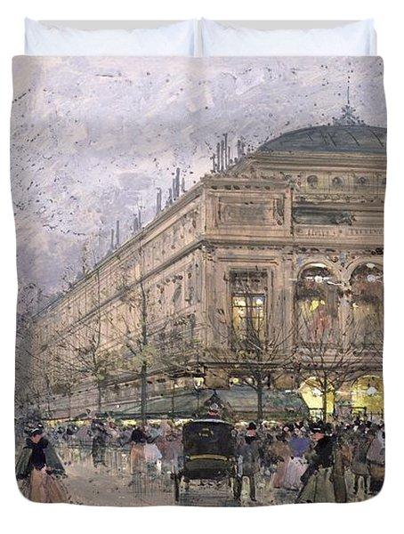 Parisian Street Scene Duvet Cover