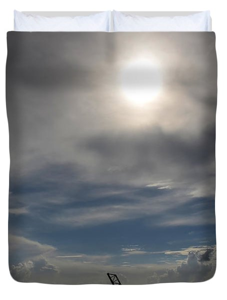 Duvet Cover featuring the photograph Pass Manchac by Charlotte Schafer