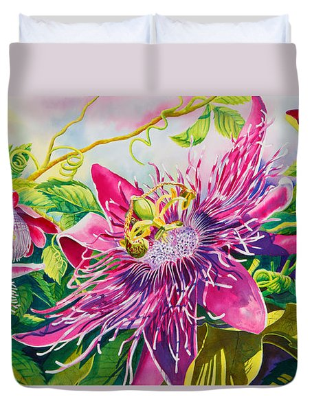 Passionflower Party Duvet Cover by Janis Grau
