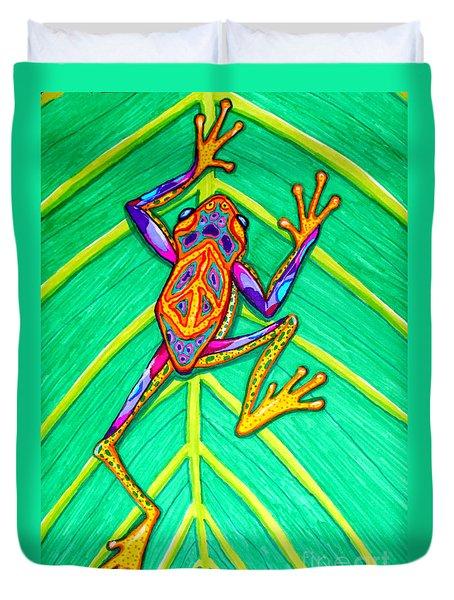 Peace Frog Duvet Cover