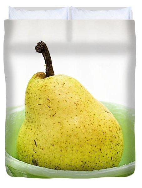 Pear Still Life Duvet Cover by Edward Fielding