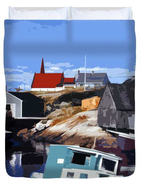 Peggy's Cove Duvet Cover by Lydia Holly
