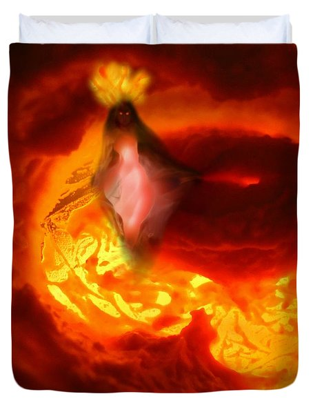 Pele Goddess Of Fire And Volcanoes Duvet Cover