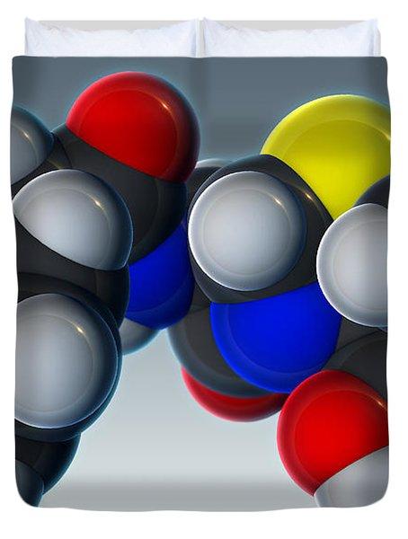 Penicillin V Molecular Model Duvet Cover