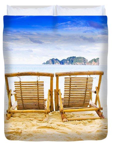 Phi Phi Island Thailand Duvet Cover