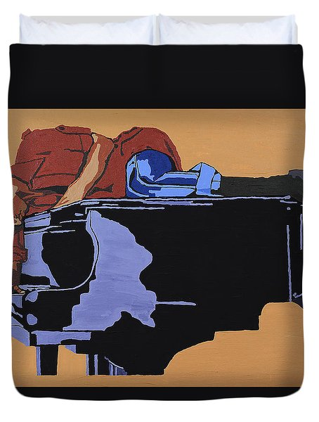 Piano And I Duvet Cover