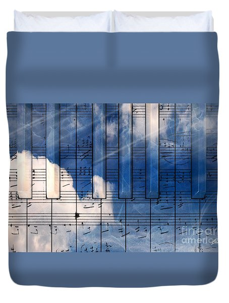 Piano Duvet Cover by Bruno Haver
