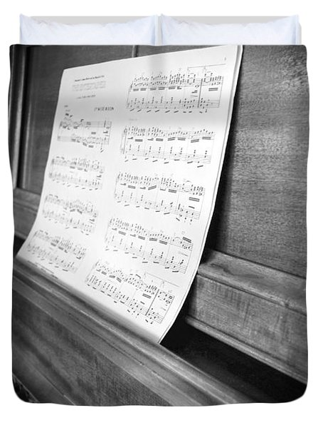 Piano Man Duvet Cover by Jerry Cordeiro