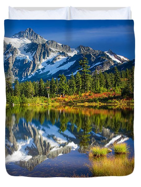 Picture Lake Duvet Cover by Inge Johnsson