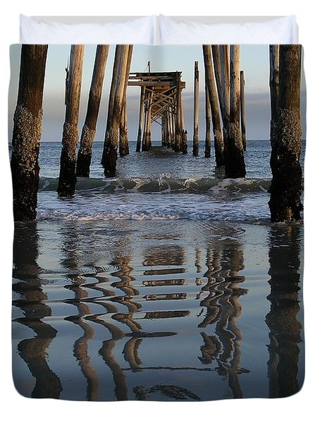 Pier Reflections Duvet Cover
