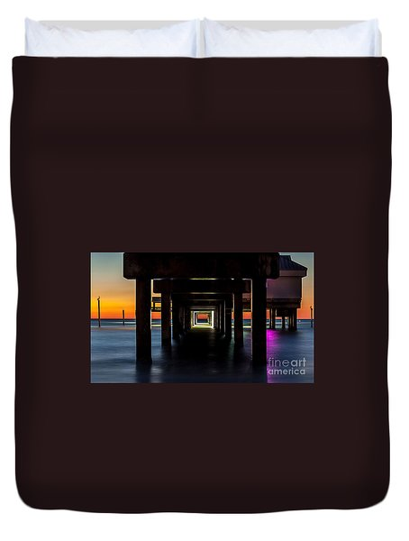 Pier Under II Duvet Cover