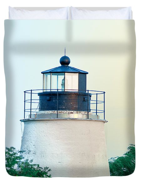 Piney Point Maryland Lighthouse Duvet Cover