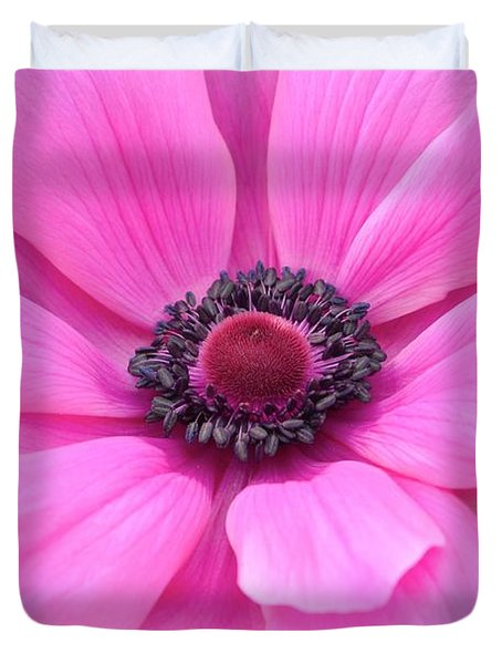 Duvet Cover featuring the photograph Pink Flower by Jeannie Rhode